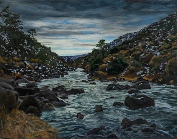 New Mexico, landscape, rio grande, river, oil painting, la junta, rio grande del  norte, wild rivers