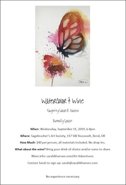 Watercolor & Wine - Butterfly Splash