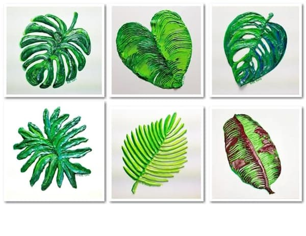Tropical Leaves Set of 6