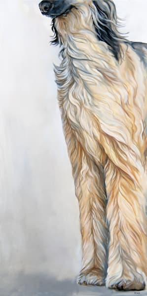 Afghan Hound Original Painting by Artist Zann Hemphill