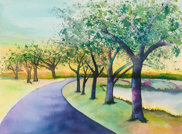 Morning Stroll Art   Mickey La Fave