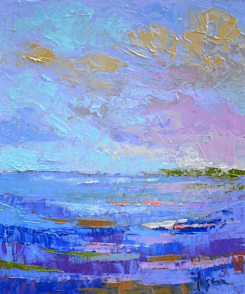 Blue Water Original Oil Painting by Dorothy Fagan