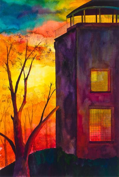 Peninsula Point Lighthouse Art | Mickey La Fave