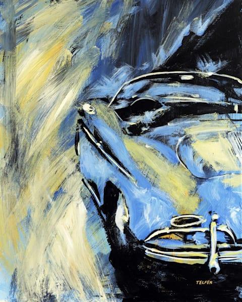 Blue Yellow Speedster Original Painting