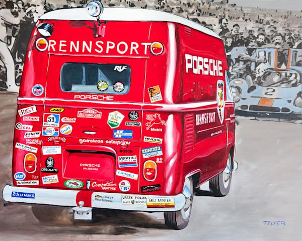 Porsche Rennsport Stickermania Original Painting Art | Telfer Design, Inc.