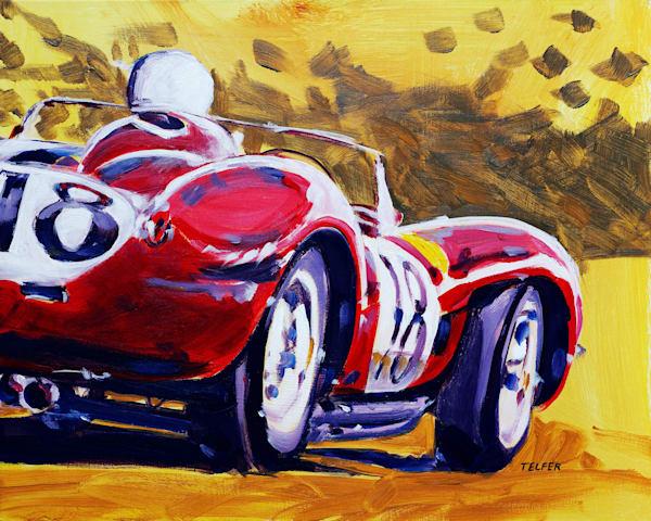 Ferrari Testarossa Original Painting Art   Telfer Design, Inc.