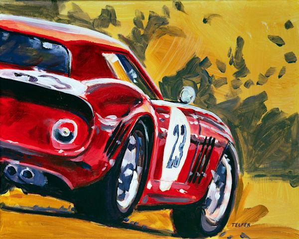 Ferrari 250 Gto Original Painting Art   Telfer Design, Inc.