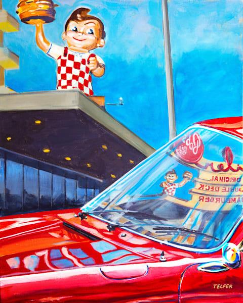 Bobs Big Boy- Porsche 911 Original Painting