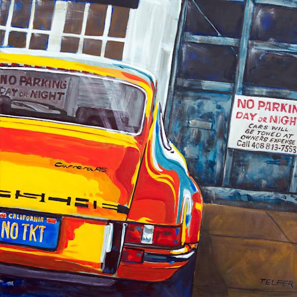 No Ticket Porsche 911 Original Painting