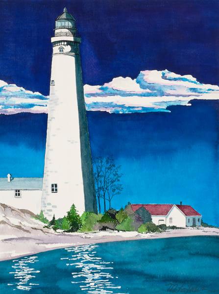 South Manitou Island Lighthouse Art | Mickey La Fave