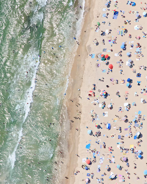 """Misquamicut Beach Summer Afternoon"" Aerial Westerly RI Fine Art Coastal Photography"