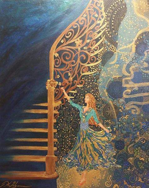 Magic at Foot of Staircase