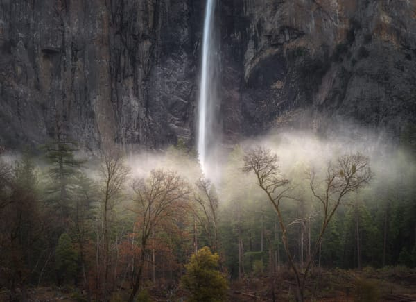 Bridalveil Fall Winter into Spring, Selected for the 2020 Yosemite Renaissance 35 by Charlotte Gibb