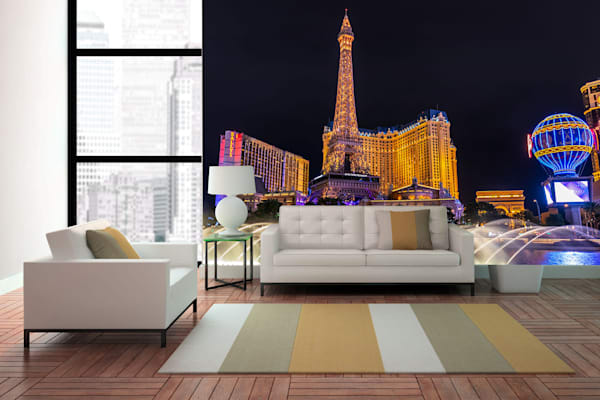 City Skyline Wall Murals - Mural Wallpaper | William Drew Photography