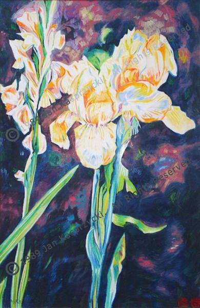 Yellow Iris & Gladiola