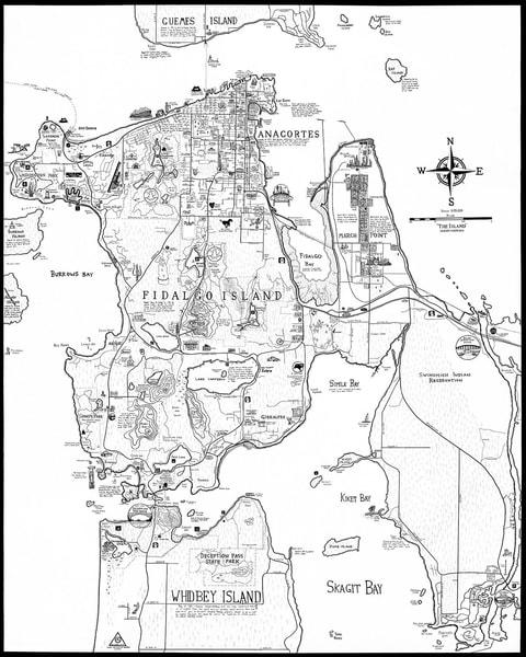 Fidalgo Island Map - Anacortes Washington