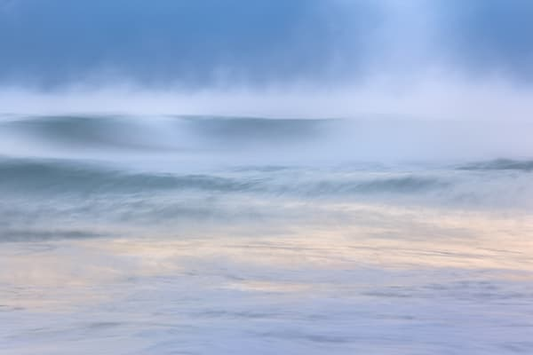 Florida Misty Morning on Florida's Atlantic Ocean by Charlotte Gibb