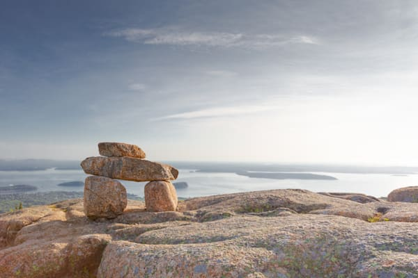 First Sunlight On Cadillac Mountain in Acadia National Park | Fine Art Prints | Nathan Larson Photography
