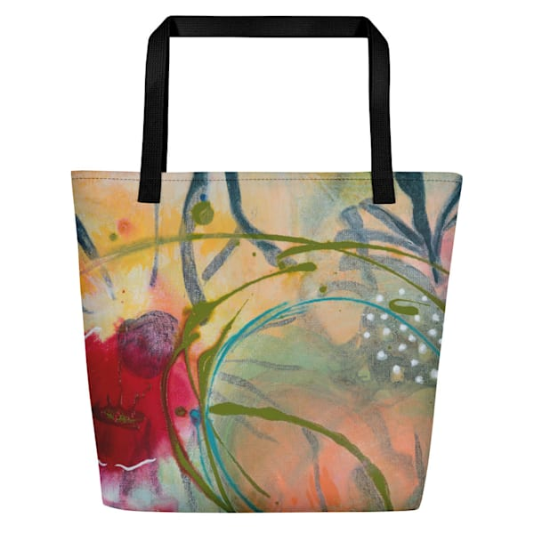 Printed Abstract Tote Bag