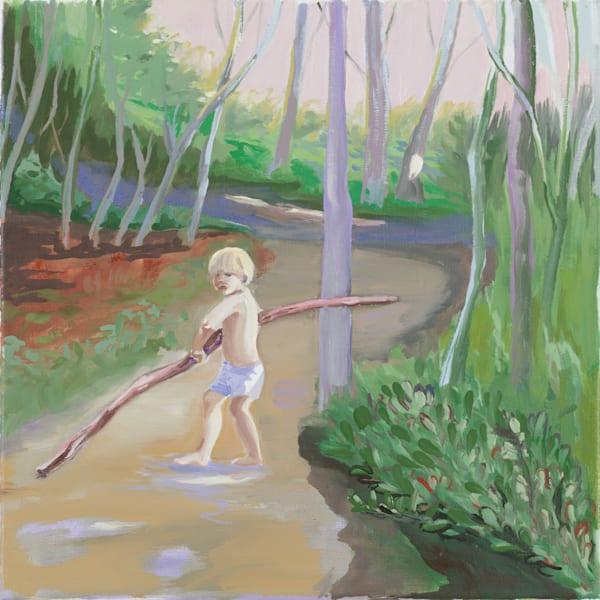 Boy With Branch Larger Than Himself Art | Trine Churchill
