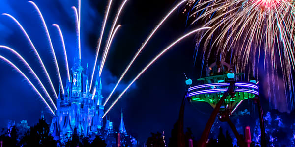 Tomorrowland Fireworks 2 - Magic Kingdom Art | William Drew Photography