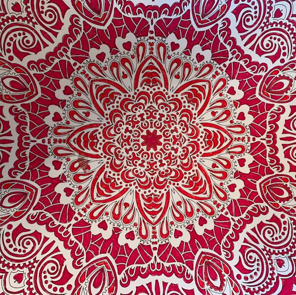 Red Mandala Art   Marci Brockmann Author & Artist