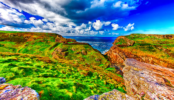 Tintagel, Cornwall - Art of England Print by Christopher Gatelock