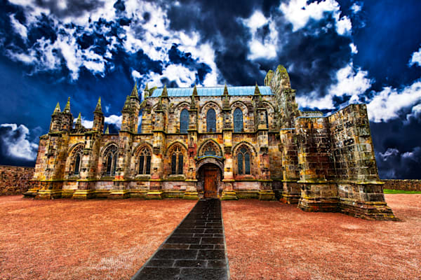 Rosslyn Chapel - Side - Art of Scotland Print By Christopher Gatelock