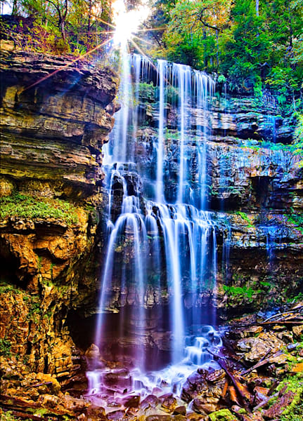 Virgin Falls - Art of Tennessee Print By Christopher Gatelock