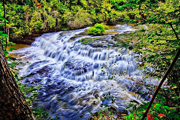 Burgess Falls 2 - Art of Tennessee Print By Christopher Gatelock