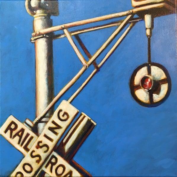 Railroad Crossing Art by samvance