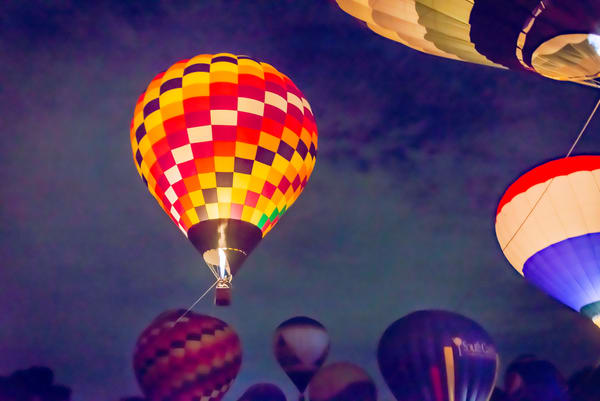Glowing Balloons on a Painted-Sky Night | Susan J