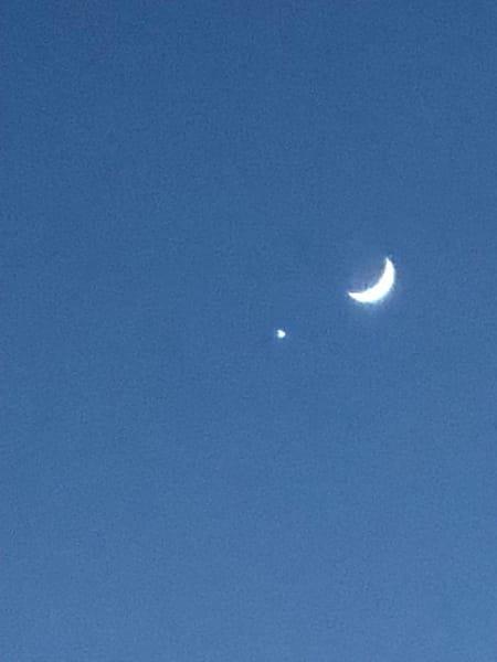 Venus & Moon Photography Art | Brian Ross Photography