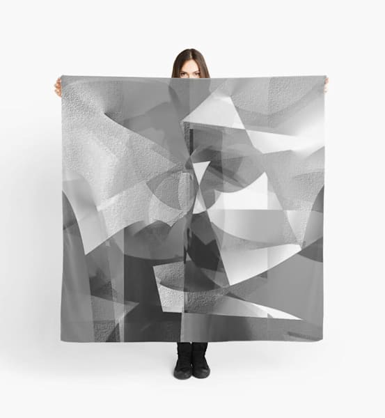 B&W Abstract Scarf | Marci Brockmann Author, Artist, Podcaster & Educator