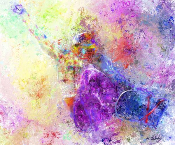 Snowboarding painting | Sports artist Mark Trubisky | Custom Sports Art