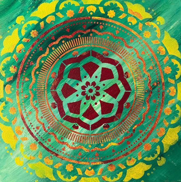 Green Mandala Scarf | Marci Brockmann Author & Artist