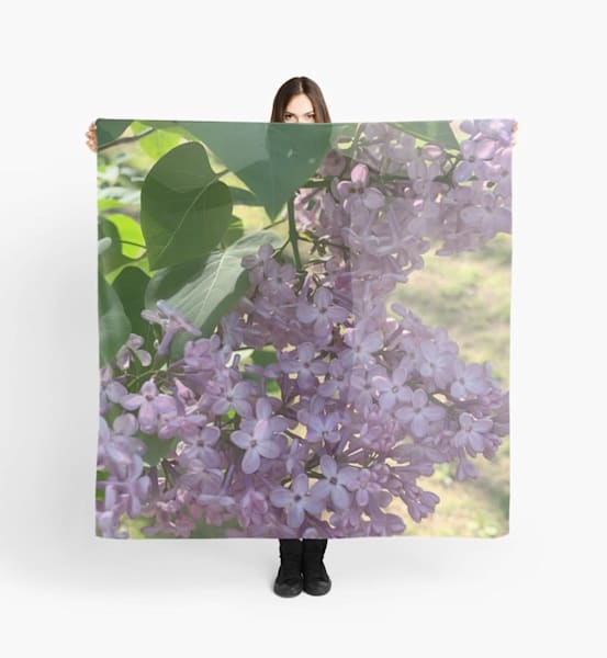 Lilacs Scarf | Marci Brockmann Author, Artist, Podcaster & Educator