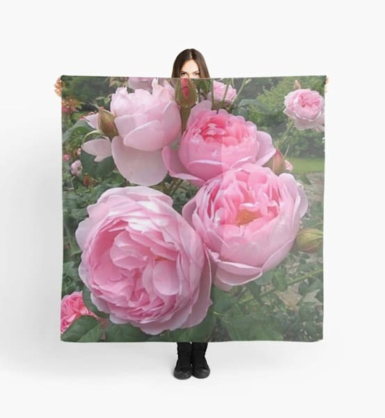 Pink Peonies Scarf | Marci Brockmann Author, Artist, Podcaster & Educator