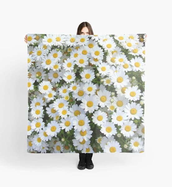 Field Of Daisies Pillow | Marci Brockmann Author, Artist, Podcaster & Educator