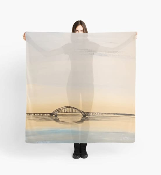 Tranquil Waters Scarf | Marci Brockmann Author, Artist, Podcaster & Educator