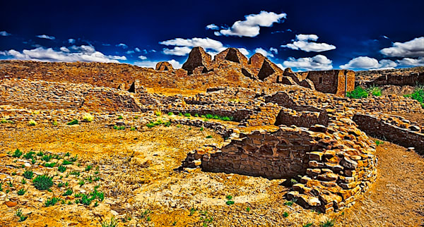 Chaco Canyon Ancient Ruins 2, New Mexico Print By Christopher Gatelock