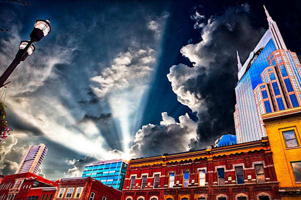 AT&T Building - Art of Nashville,Tennessee Print By Christopher Gatelock