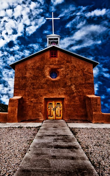 Guadalupe Mission - New Mexico Mission Print By Christopher Gatelock