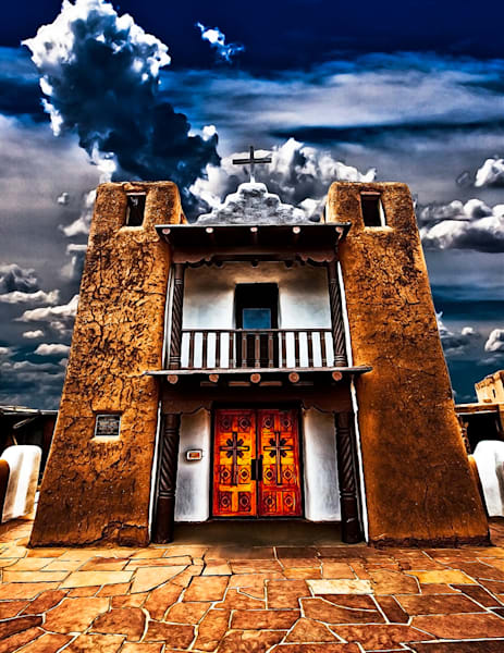 Taos Pueblo Mission - New Mexico Print By Christopher Gatelock