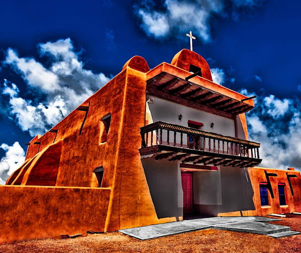San Ildefonso Pueblo Mission, New Mexico By Christopher Gatelock