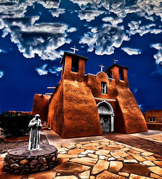 The Lost Mission - New Mexico Mission Print By Christopher Gatelock