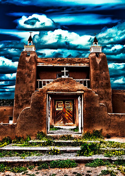 San Jose De Gracia Church - New Mexico Pueblo By Christopher Gatelock