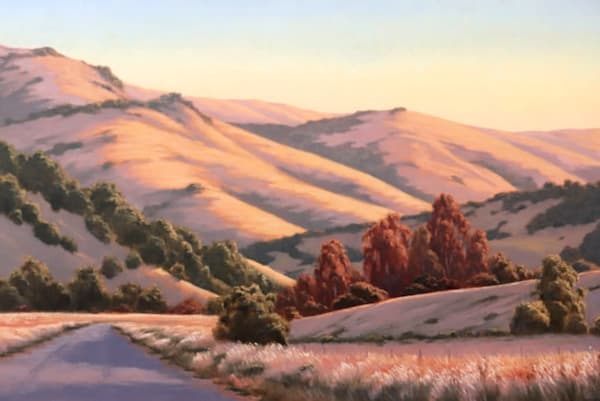 Old Road, California Landscape painting