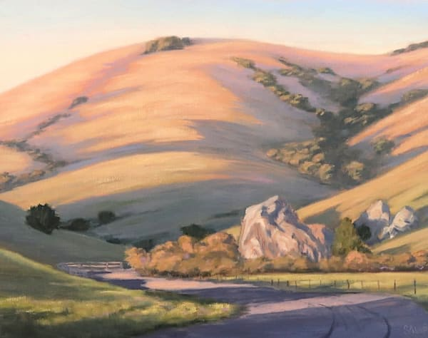 Northern California landscape in oils