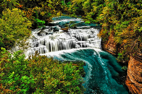 Burgess Falls 1 - Art of Tennessee Print By Christopher Gatelock